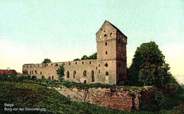 Замок Бальга - руины